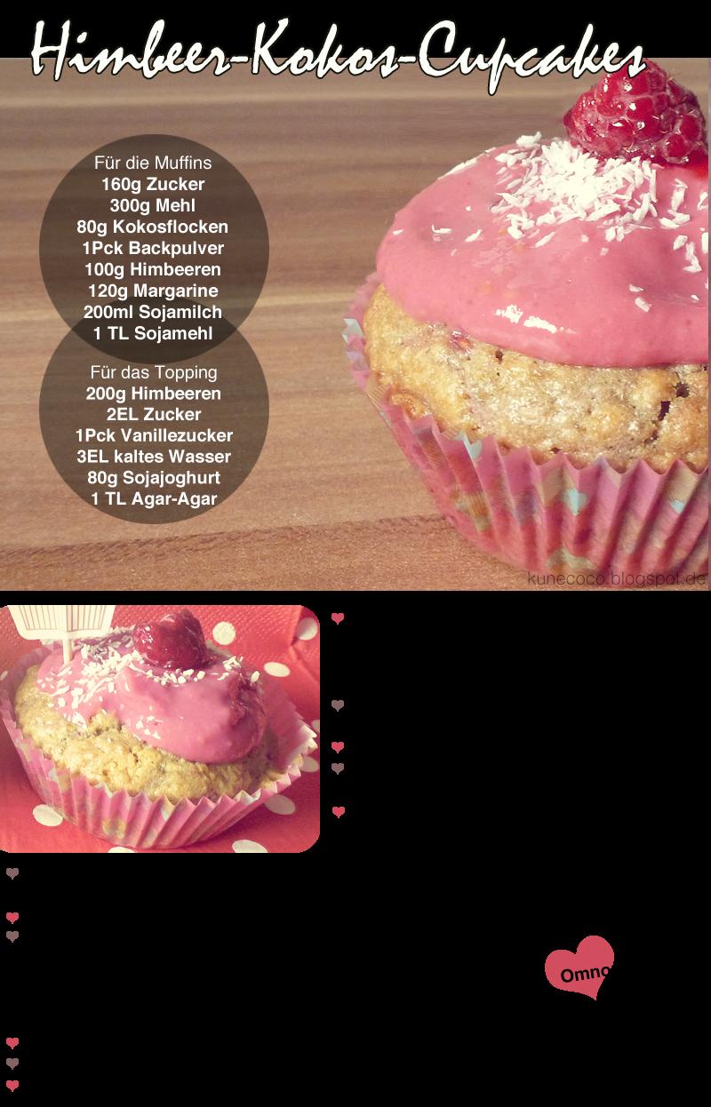 Rezept // Himbeer-Kokos-Cupcakes