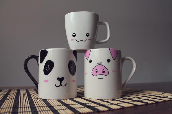 KuneCoco • DIY • Tassen bemalen • Die fertigen Tassen