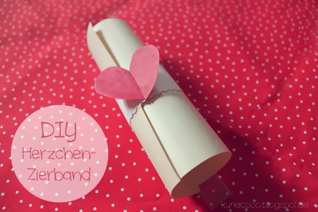 DIY // ❤-Zierband (Valentinstag und so)