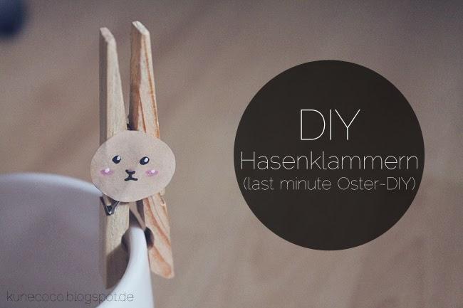 DIY // Hasenklammern (last minute Oster-DIY)