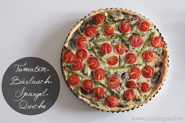 Rezept // Tomaten-Bärlauch-Spargel-Quiche