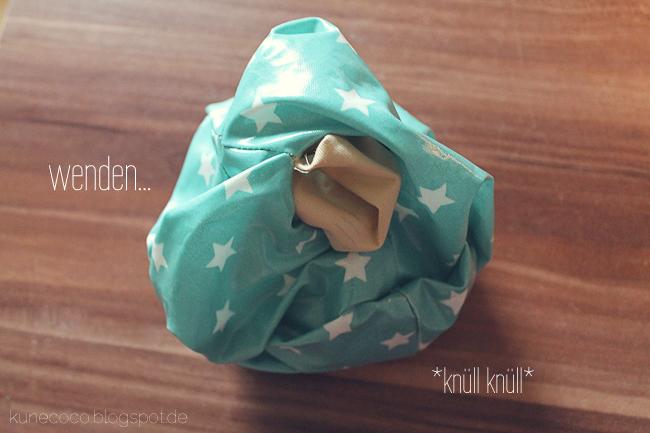 KuneCoco • DIY • Utensilo aus Wachstuch • Umdrehen
