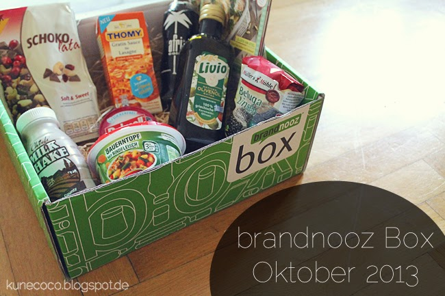 brandnooz Box Oktober 2013