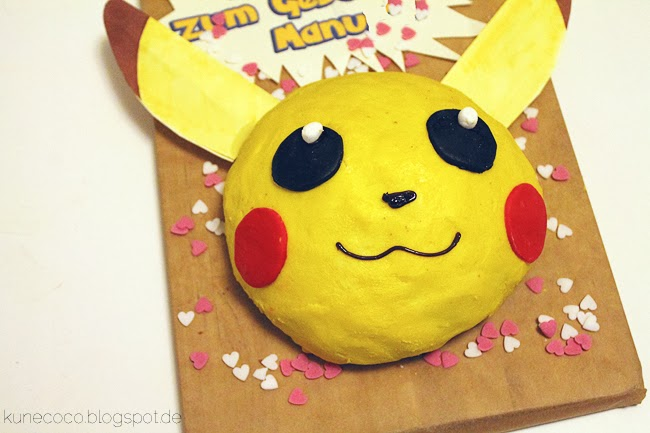 KuneCoco • Rezept • Pikachu-Kuchen • Geburtstagskuchen