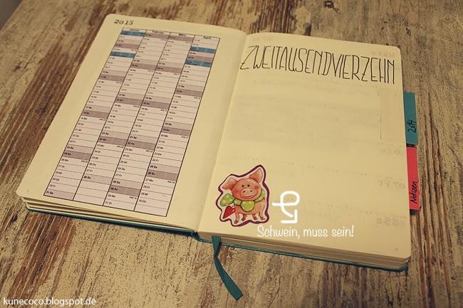 KuneCoco • DIY • Kalender selbst gestalten • 2014