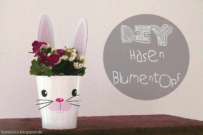 DIY ~ Hasen Blumentopf