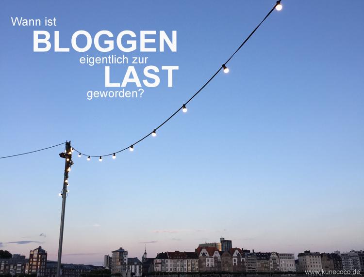 Wann ist Bloggen eigentlich zur Last geworden?