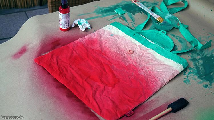 KuneCoco • Wassermelonen-Rucksack • DIY • Anpinseln