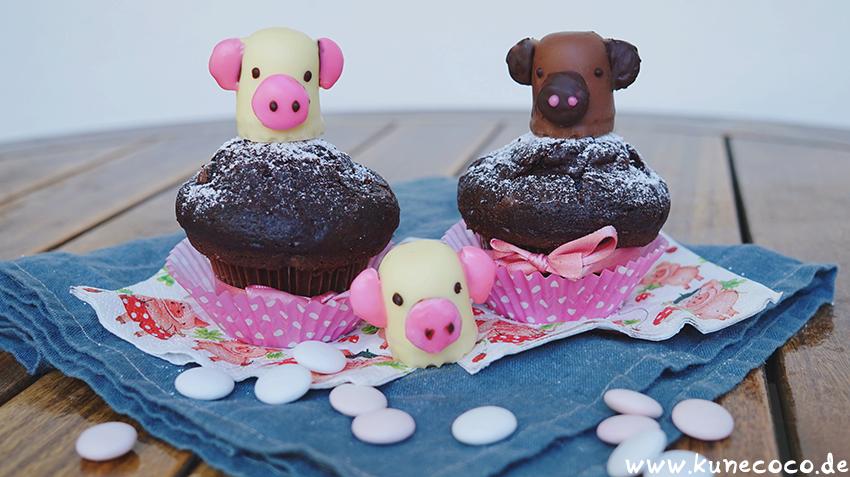 Schweine Cupcake-Topper
