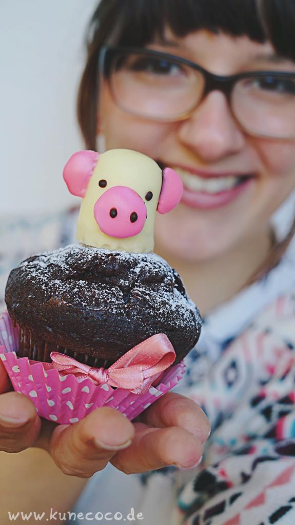 KuneCoco • Schweine Cupcake-Topper • Schweinemuffin