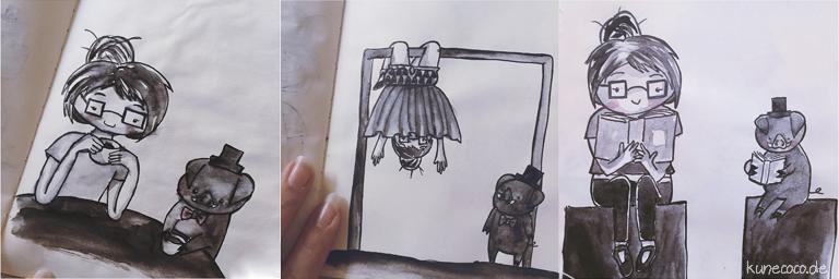 KuneCoco • Inktober Teil 2 • Tee, Quatsch und gute Bücher