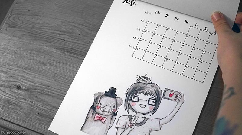 KuneCoco • Kalender 2016 • Wandkalender zum selbst drucken