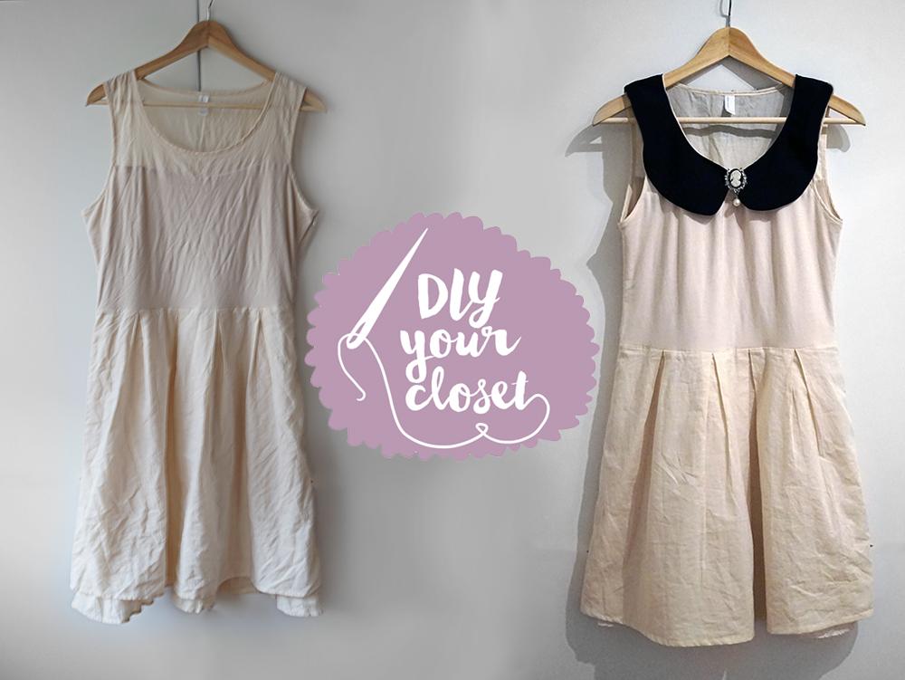 DIY your closet // Kleid Upcycling