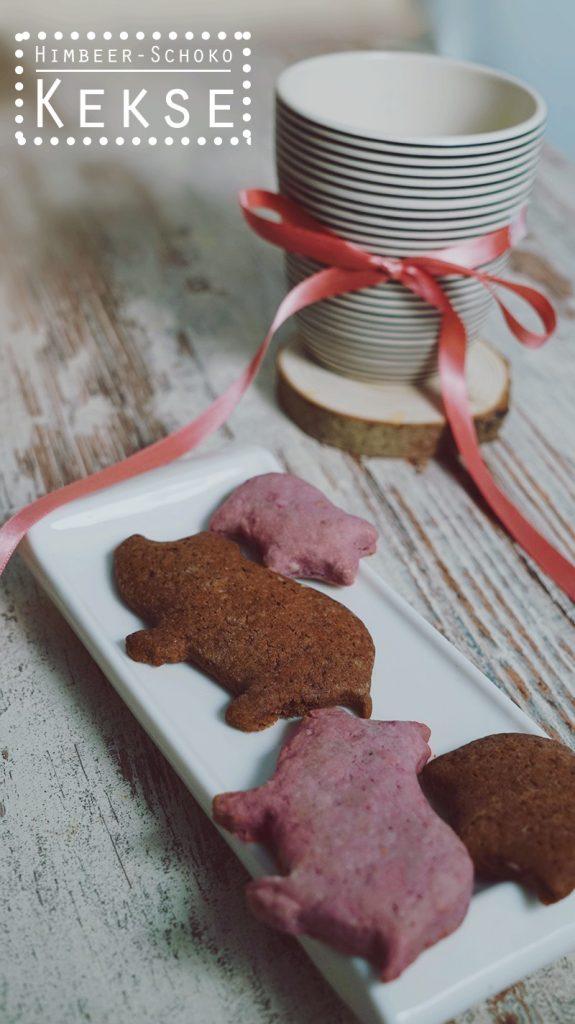 KuneCoco • Rezept • Himbeer-Schoko-Kekse • In Schweineform