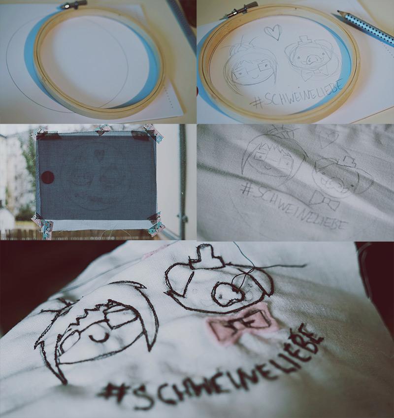 KuneCoco • DIY • 3 Ideen für Stickrahmen • Malen mit der Nähmaschine