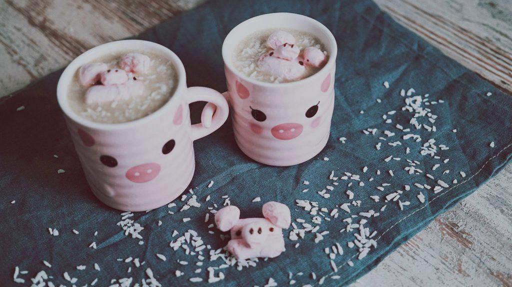 KuneCoco • Rezept • Heiße weiße Kokos Schokolade