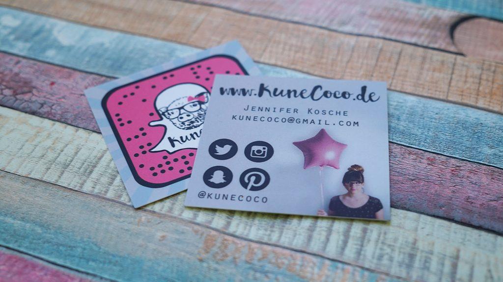 Neue Blog Visitenkarten Kunecoco