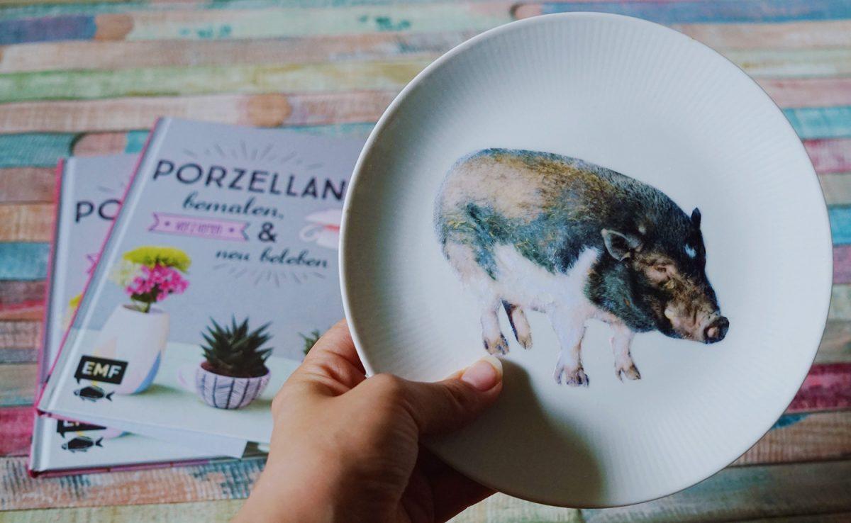 DIY ~ Schweinische Wandteller + Gewinnspiel