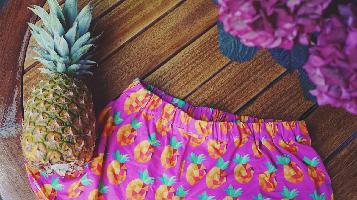 DIY your closet // Sommershorts mit Ananasmuster