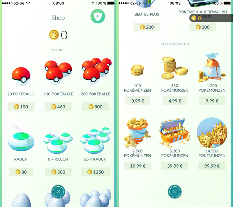 KuneCoco • Pokémon Go • Screenshots Shop