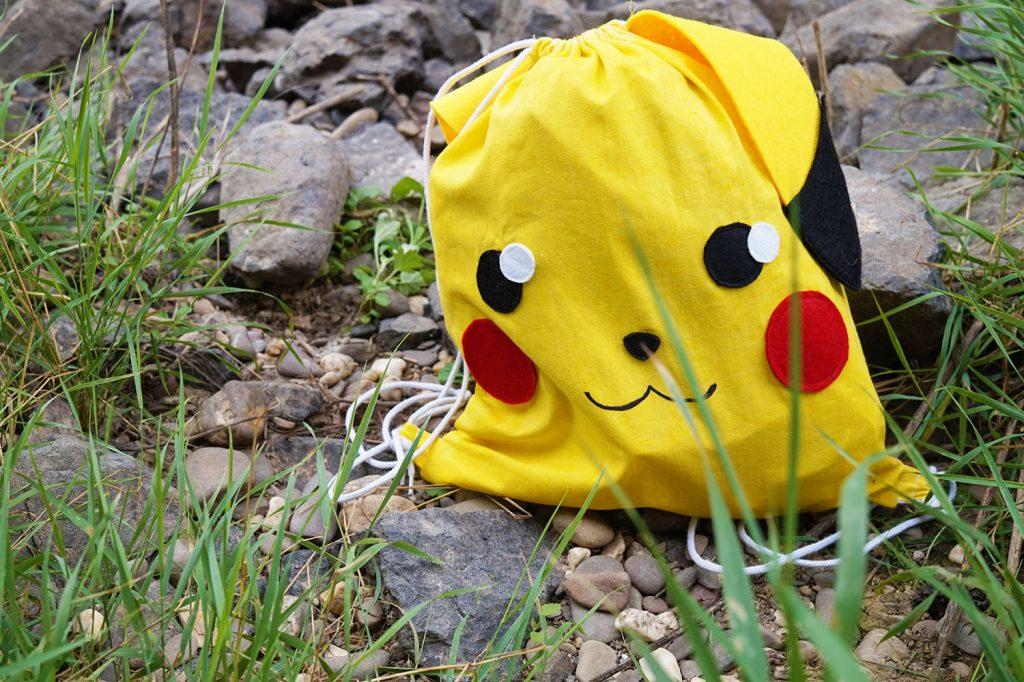 KuneCoco • DIY • Pikachu Turnbeutel-Rucksack #GottaBlogEmAll