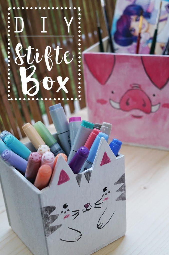 KuneCoco • DIY Stifteboxen • Katze und Schwein