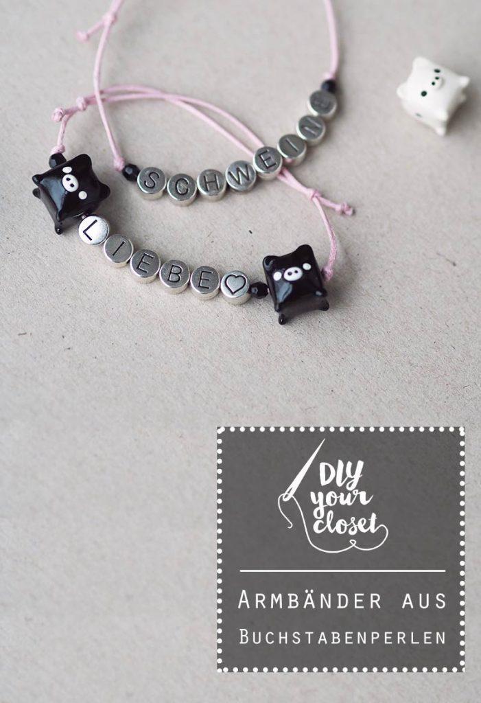 KuneCoco • DIY your closet • Armband aus Buchstabenperlen