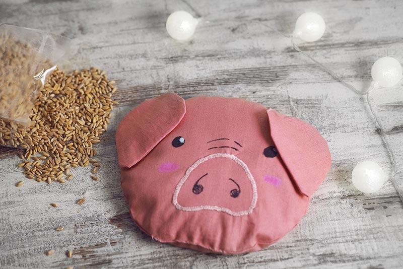 DIY // Schweine-Körnerkissen