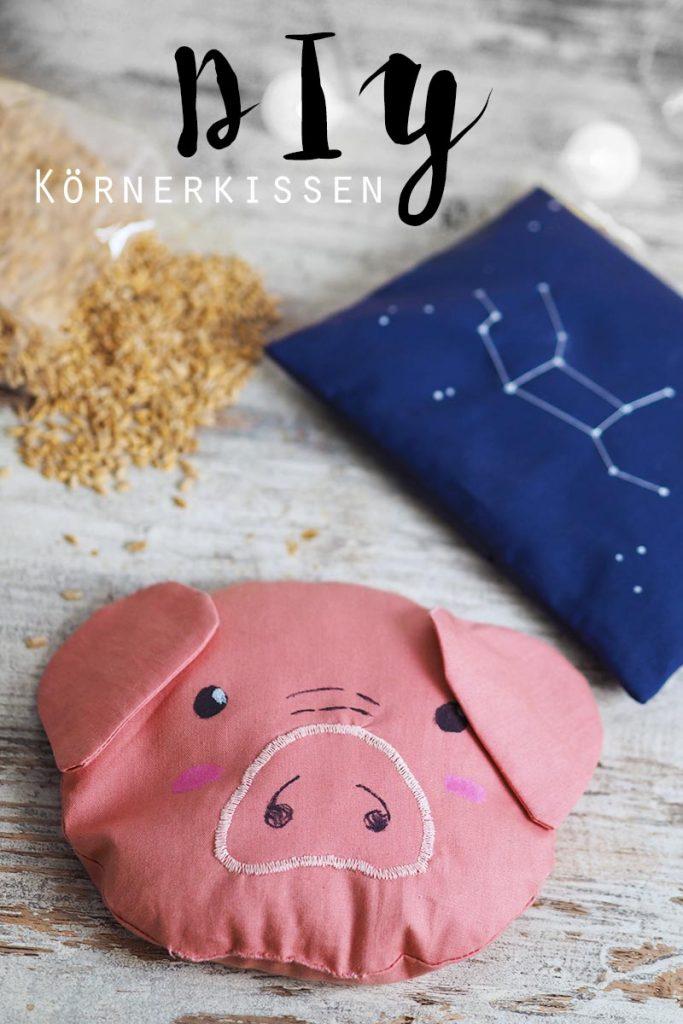 KuneCoco • DIY • Körnerkissen mit Dinkelfüllung • Schweinchen und Sternzeichen-Sternbild