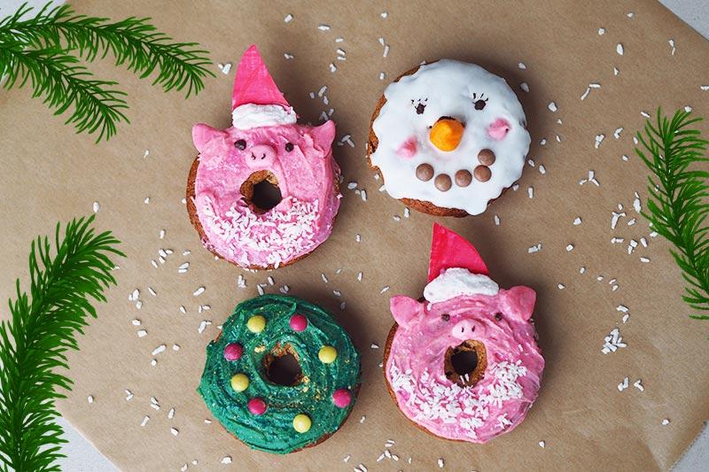 KuneCoco • Rezept für weihnachtliche Donuts