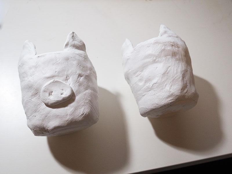 KuneCoco • DIY • Schweine-Blumentopf aus Modelliermasse
