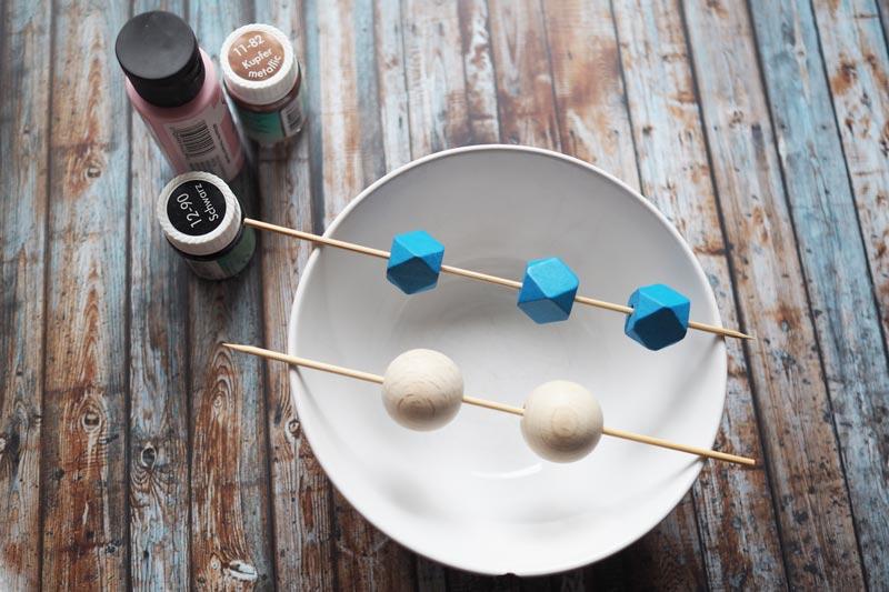 KuneCoco • DIY • Kette • Holzperlen bemalen