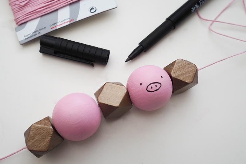 KuneCoco • DIY • Kette • Schweineperlen