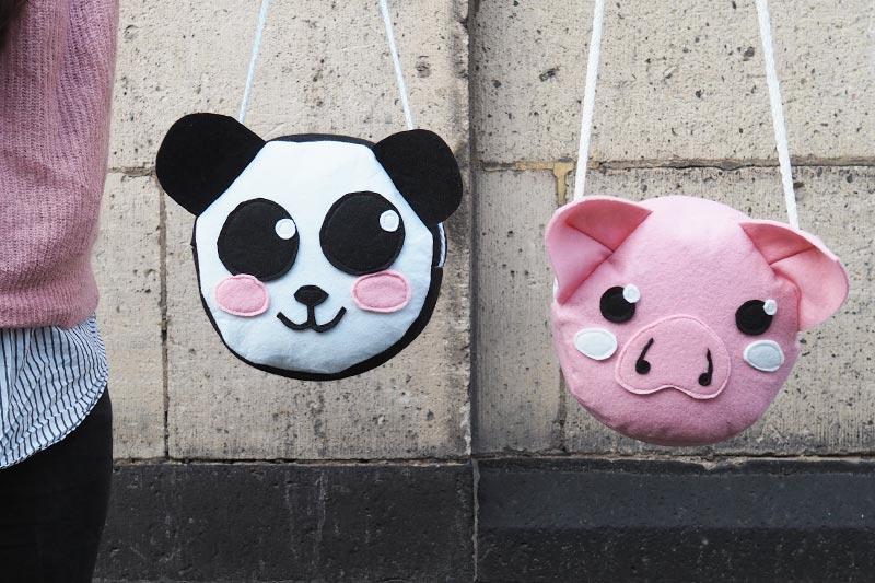 KuneCoco • DIY • Schweine- und Panda-Tasche aus Filz