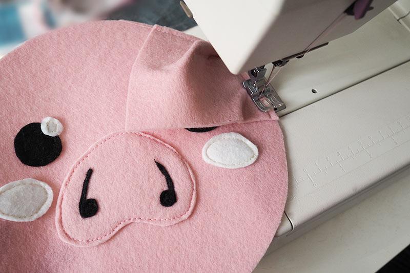 KuneCoco • Schweinetasche aus Filz • Nähen