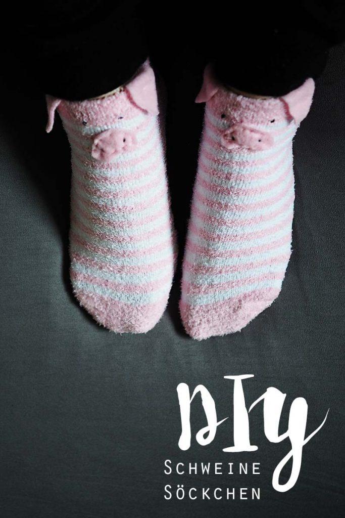 KuneCoco • DIY • flauschige Schweine-Socken