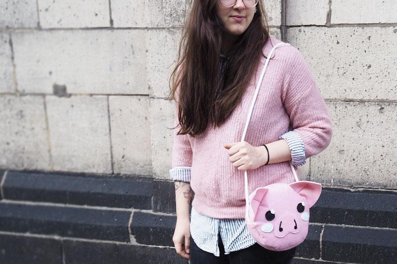 DIY ~ Schweinetasche aus Filz