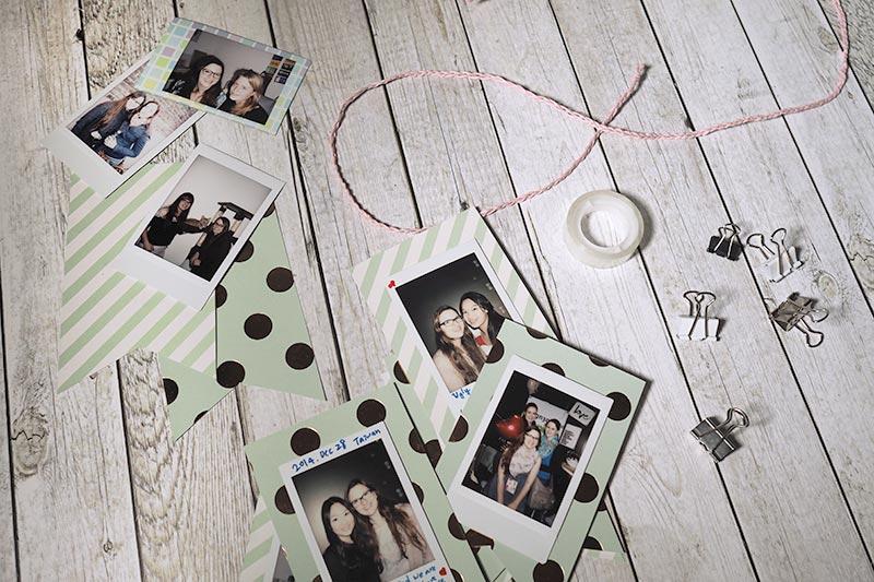 KuneCoco • DIY • Polaroid Wimpelkette mit Fotos