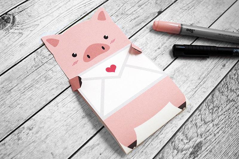 Freebie ~ Schweinchen-Liebesbrief