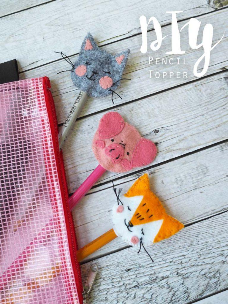 KuneCoco • DIY • tierisch süße Pencil Topper aus Filz