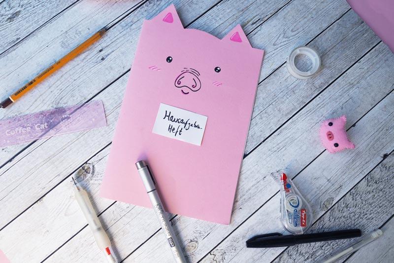 DIY // Schweine-Notizbuch
