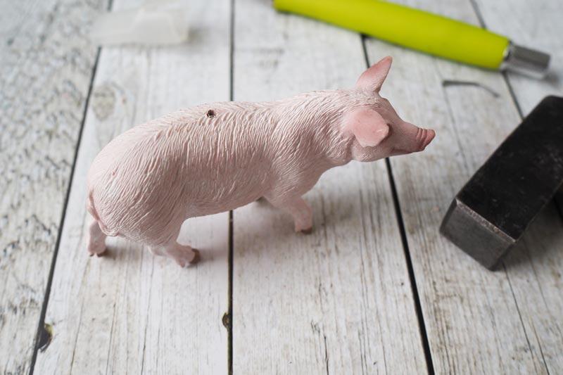 KuneCoco • Schweine-Kerzenhalter selbst gemacht