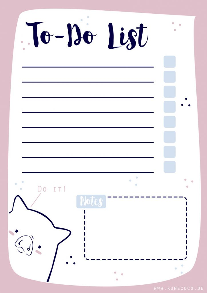 kostenloses Freebie zum ausdrucken: To-Do List
