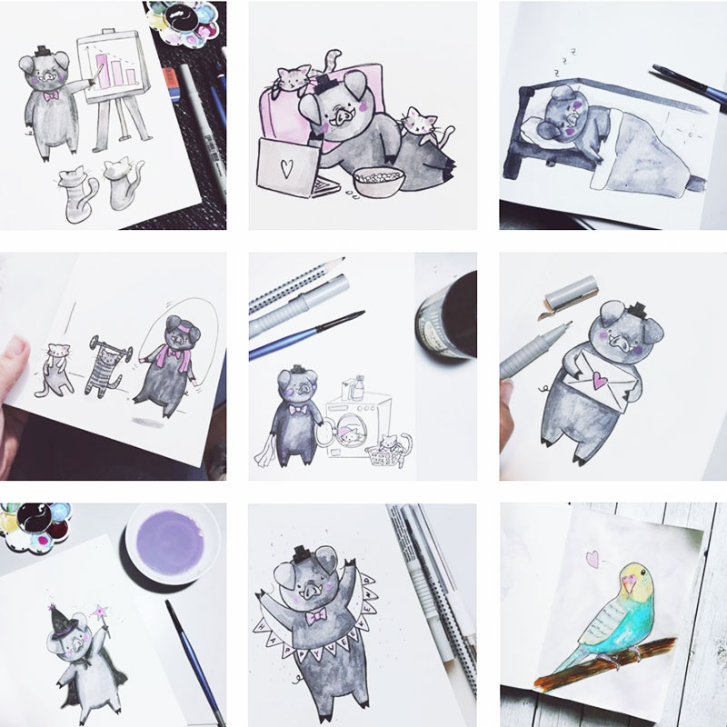 Meine 31 Zeichnungen zum Inktober 2017