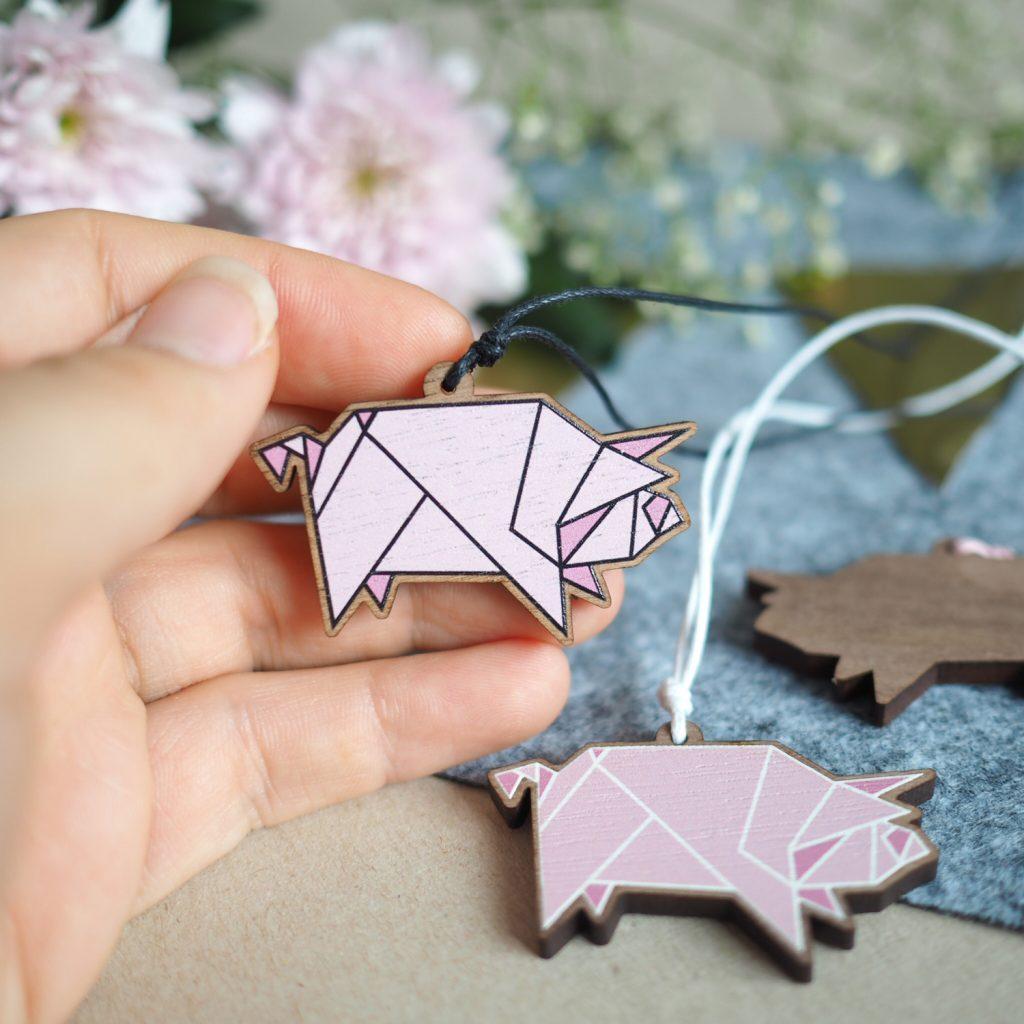 Origami Schweinchenkette