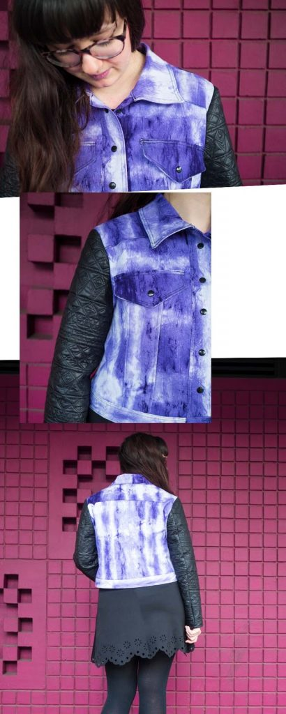 DIY Jeansjacke in Ultra Violet