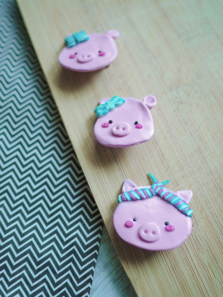 KuneCoco • DIY • Schweinebroschen aus Fimo