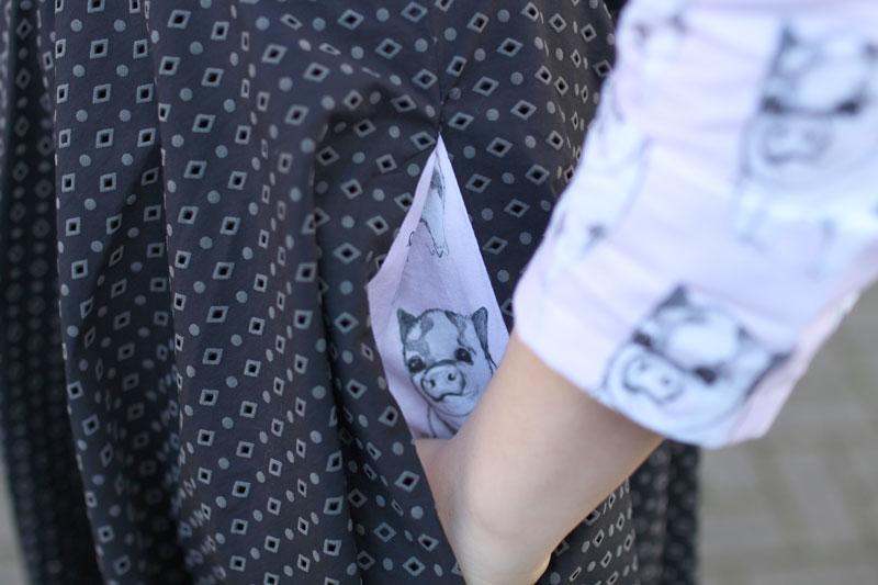 KuneCoco • #naehdirwas: It's all about Mustermix • Kleid mit Taschen