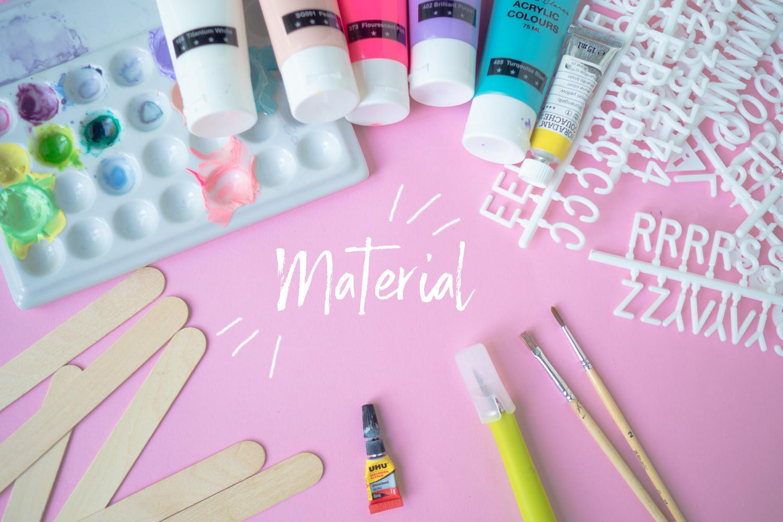 KuneCoco • DIY Letterboard • Material
