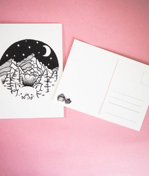 Postkarte Nachtschwein
